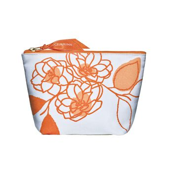 Clarins Orange Pouch