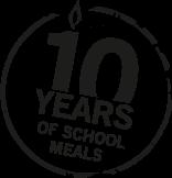 Logo 10 years school meals
